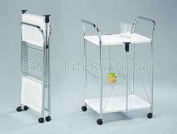Taiwan Foldable Serving Trolley Cart Kitench Trolley