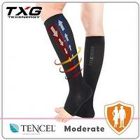 Open toe sport compression socks