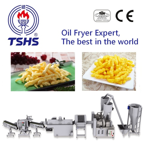 2017 Taiwan Industrial Automatic Nik Naks Extruding Machine