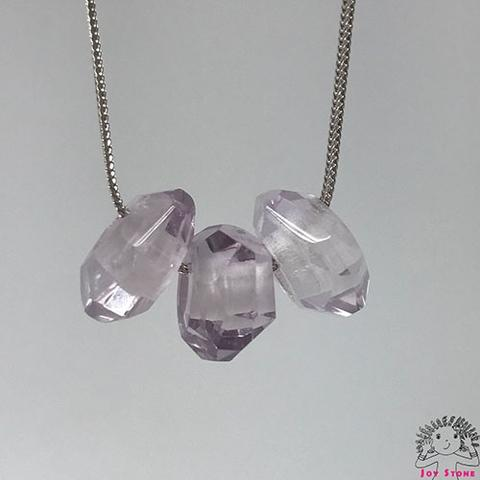 [925 Silver Aamethyst Squash Necklace] 11mm Beads Pendant