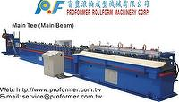 Fully automatic Main Tee grids (T bar) in line punch roll forming machine