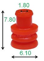 281934-3(HY1154-R) Wire Seals For Connector, Tangerine, TE/TYCO.