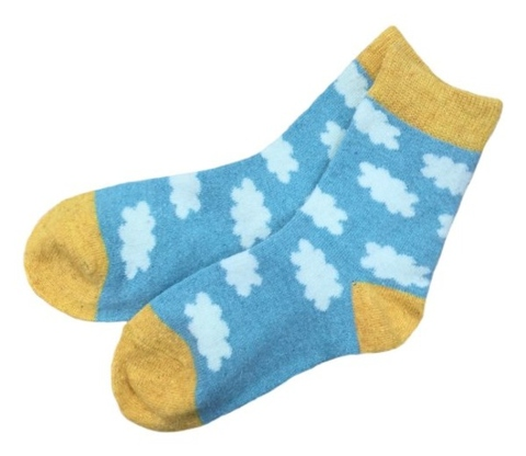 Socks, Deparee Wool-Blend Cloud Crew Socks