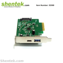 Super Speed Pci-E Express To 3 Port Usb 3.0 3.1 Type A//C Sata Host Card KW