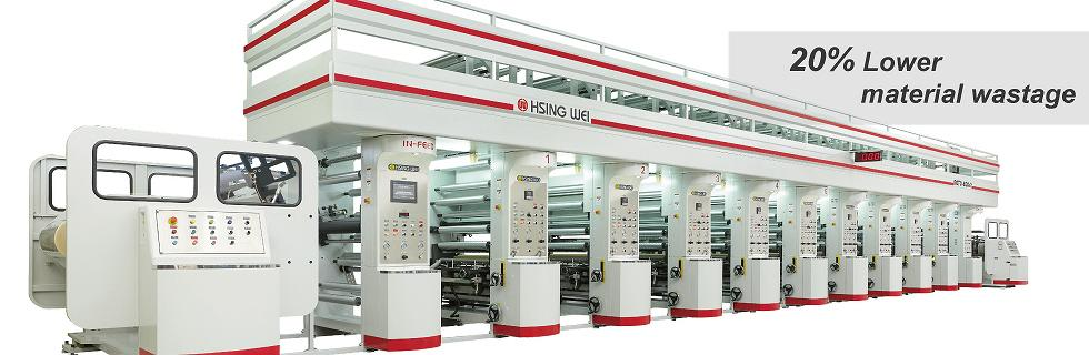 Rotogravure press, hsing wei taiwan