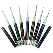 metal handle synthetic hair gel nail art brush set