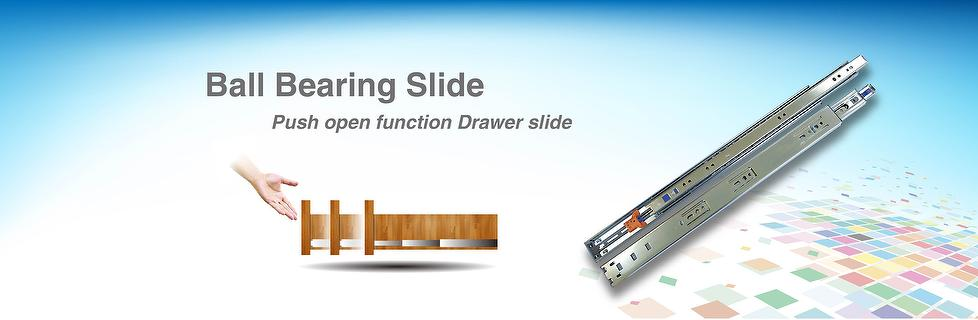 Push Open Function Ball bearing Drawer slide