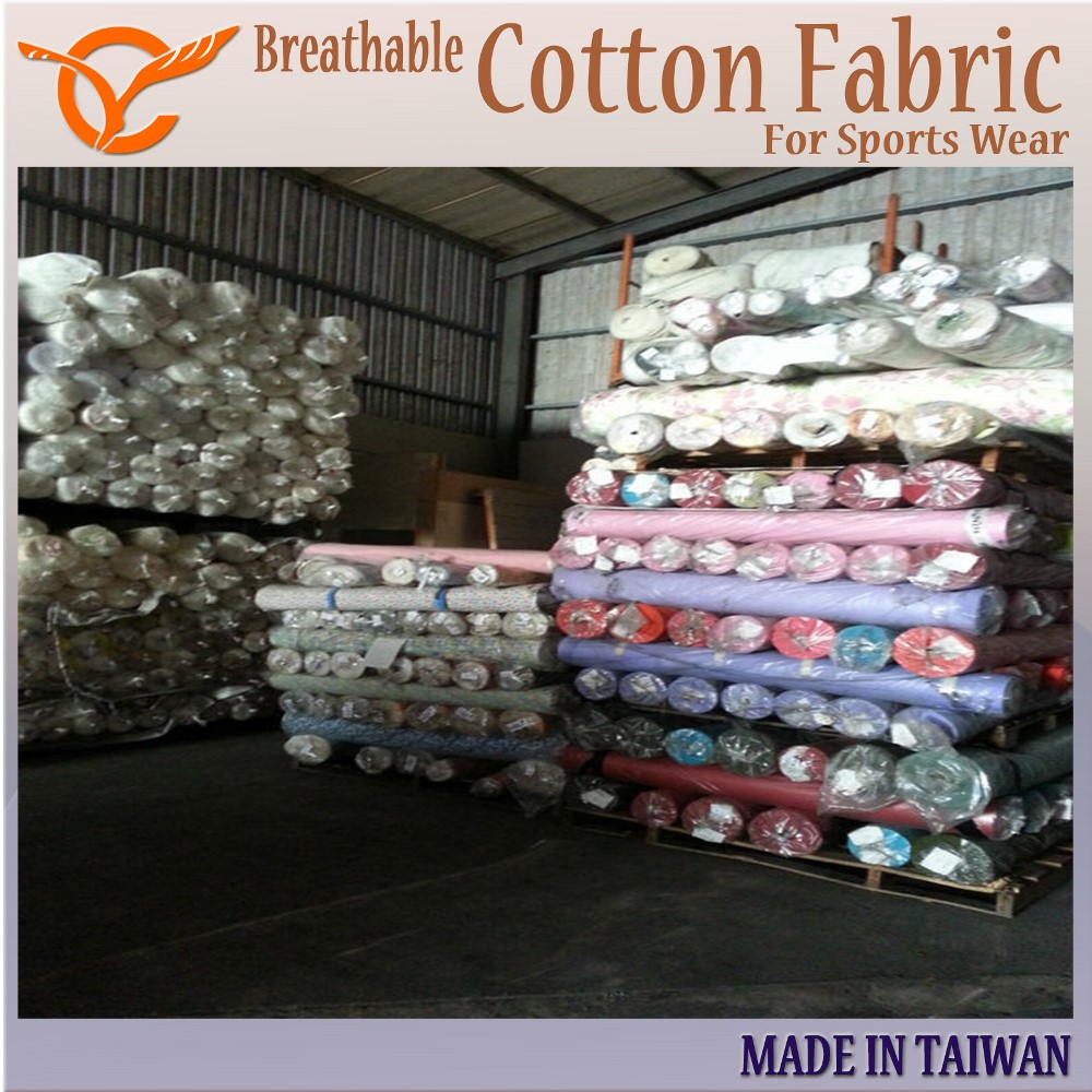 7ae8bc9879e Taiwan Breathable 100% Cotton Fabric For Sports Wear Stock | Taiwantrade