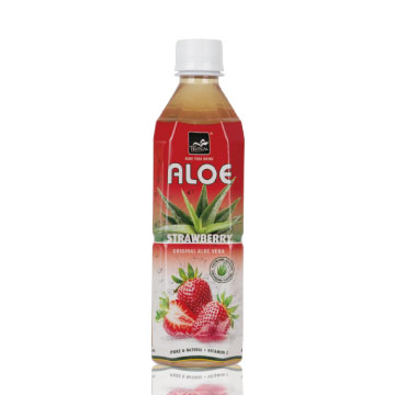 Tropical - Aloe Vera Strawberry Juice Drink (Natural & Fresh Aloe Vera pulp Drink)