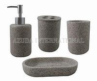 Cylinder Sandstone-II Poly Bathroom Set