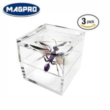 Pack of 3 Magnifier Box Bug Viewer Magnifies up to 3X