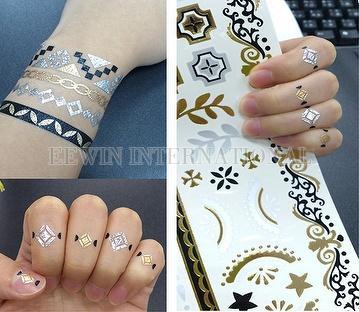 Taiwan Temporary Tattoo Sticker Customize Wholesale Gold Jewelry ...