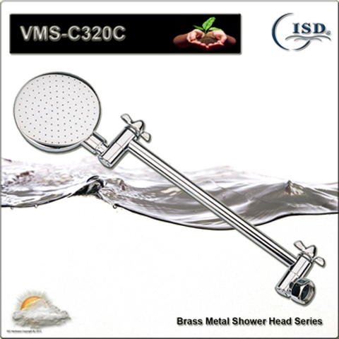 Adjustable Brass Biscuit style Wall-Mount Shower Head with/without Adjustable Arm
