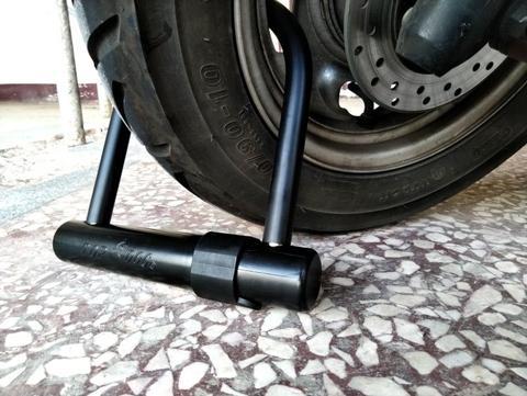 Alloy Steel Coated ABS Disc Cylinder bike U Lock