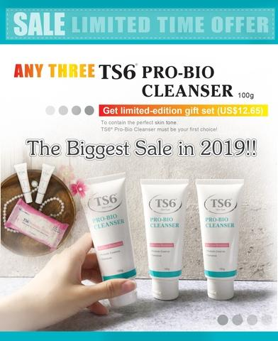 TS6 Pro-bio cleanser/Facial cleaner*3+ Free gift set /acne /oilyskin