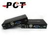 3 Port VGA KVM Console Extender w/ Audio & Mic., 100 M