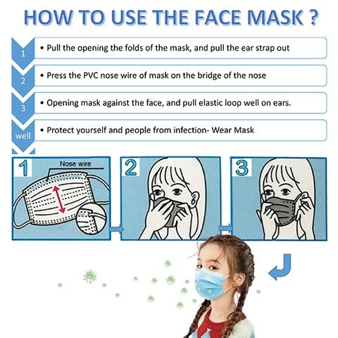 How to use the children's Disposable Face Mask
