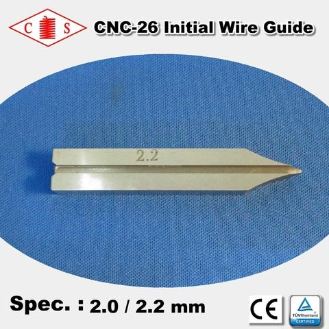 CNC-26 Initial Wire Guide 2.0 / 2.2 mm  Back