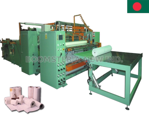 Toilet Roll Rewinding and Perforating Machine