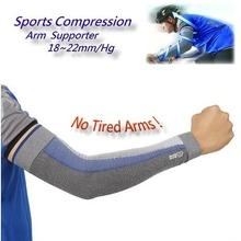 2 Pairs Ventilated Compression Sports Arm Supporter 20-30mmHg Graduated Men Ladies