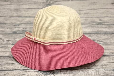 【紙在乎你Natural Club】現代簡約淑女帽 #J40 櫻桃紅 可水洗 防曬 紙線編織帽