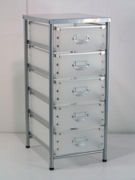 CHEST DRAWER TROLLEY  W/4 BOTTOM CAP & 5 DRAWERS