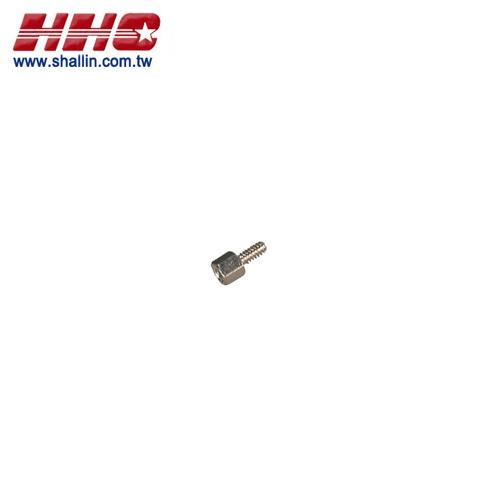 Screw for D-sub connector hood, length:11.8mm