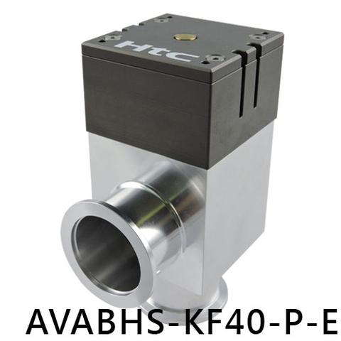 Vacuum aluminum angle valve with sensor - AVABHS-KF40-P-E