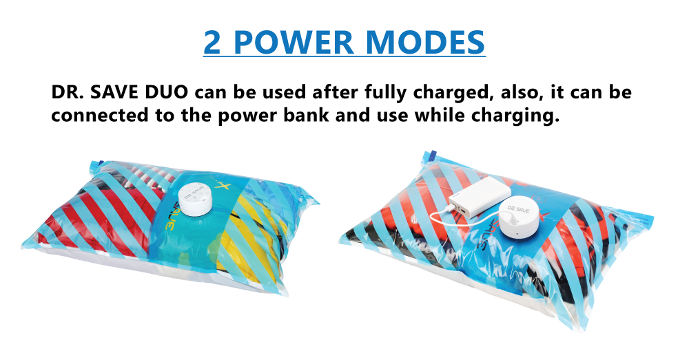 DR. SAVE DUO has 2 power modes.