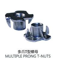 Multiple Prong T-Nuts