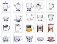 Tea ware sets: Cups, trays, utensils, holder, teapot, bowl, saucer, spoon, plates
