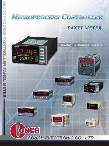 Microprocess control panel meter