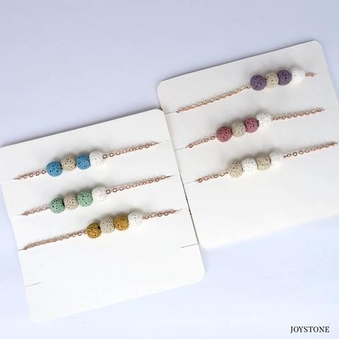 Quadruple-Bead 3 Color 2 Color Aroma Rock Diffuser Bracelet