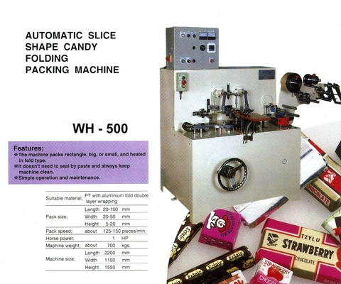 Shaped Confectionery Folding Wrapper WH-500