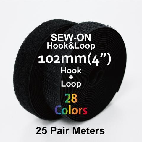"""102mm(4"""") Width 25 Pair Meters Sew-On Hook & Loop"""