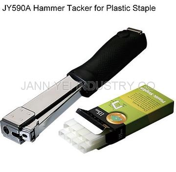 Hammer tacker for plastic staple