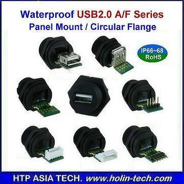 Taiwan Waterproof Usb 2 0 A Type Panel Mount Connectors