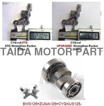 Taiwan Cygnus, camshaft, rocker arms | TAIDA MOTOR PART CO