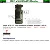 Bluetooth BLE V5.0 Beacon RS485 Reader rear side
