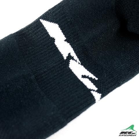 KAVULUNGAN Sport Health Socks Black with White Patterns
