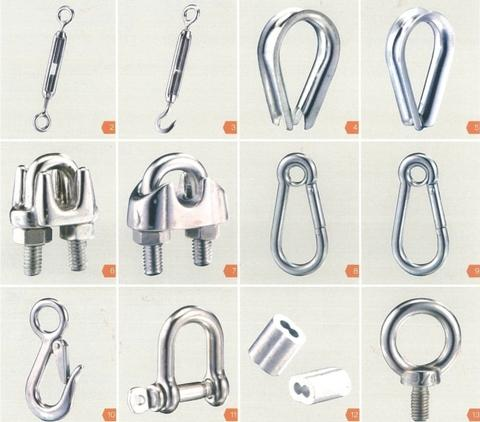 Various OEM Custom Stainless-Steel Wire Rope Fittings