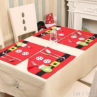 Table mat placemat set Merry Christmas