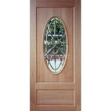 Stained glass exterior doors