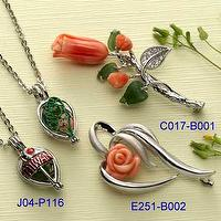 Fashion Jewelry-Coral Brooch & Pendant