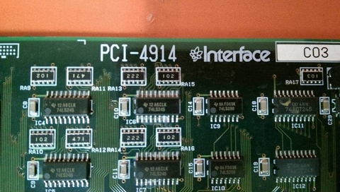 INTERFACE PCI-BASED COMPUTERS BOARD PCI-4914