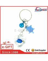 Acrylic Heart Dory Fish Bell Turtle Keychain