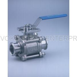 Stainless Steel Hygienic 3-PC Ball Valve