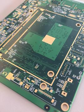 Taiwan Rigid PCB, 8L, Impedance Controlled Board with Via in-PAD