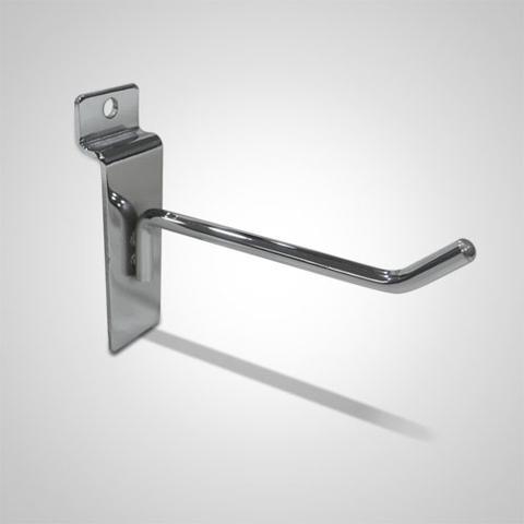 Slat wall metal chrome display hook