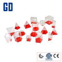 17 shape 3D geo solids set (10cm,red cover)